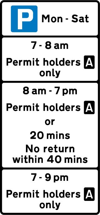 sign with permit holders and mixed use restrictions