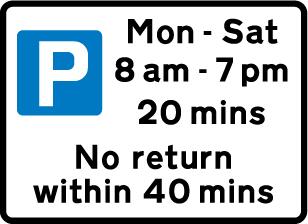 Mon - Sat 8am - 7pm 20 mins No return within 40 mins